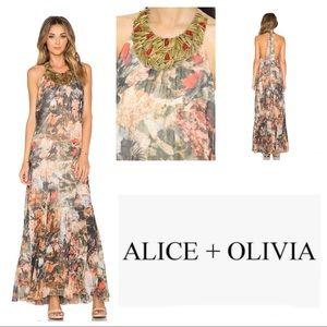 Revolve Alice + Olivia Safari Shona Beaded Dress